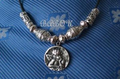 "Collar plateado ""Miguel-Angel"""