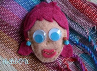 Broche Yolanda de Fieltro